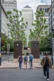 Avenue occidentale d'Inde, Canary Wharf, Londres Images stock