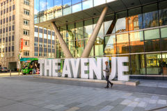 The Avenue Quarter in Manchester, UK. Stock Image