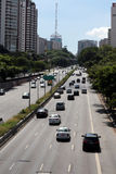 Avenue in Sao Paulo, Brazil Stock Photography