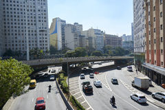 Avenue in Sao Paulo city Brazil Stock Photos