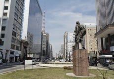 Avenue Sao Paulo de Paulista Image libre de droits