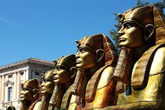 The avenue of sphinxes Royalty Free Stock Photo