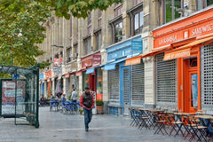 Avenue Stalingrad in center of Brussels Stock Photos