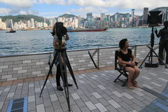 The Avenue of Stars in Honf Kong Stock Photo