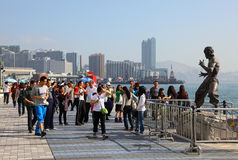 Avenue of Stars in Hong Kong Royalty Free Stock Photography