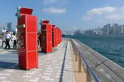 Avenue of the Stars.Hong Kong. Stock Images
