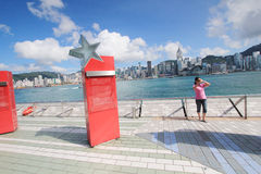 The Avenue of Stars in Hong Kong Stock Photo