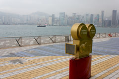 Avenue of Stars and Hong Kong Skyline Royalty Free Stock Images
