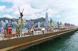The avenue of stars hong kong Stock Photography