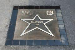 Avenue of Stars Krakow RMF FM. KRAKOW, POLAND - JUNE 28, 2008: Avenue of Stars Radio RMF FM, o/p Celine Dion Royalty Free Stock Photos