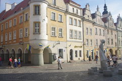Avenue of Stars of Polish Song in Opole, Poland. Between the town hall and town houses on the east side of the Market and was created in 2004. Its initiators stock photography