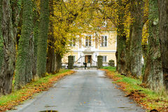 Avenue to manor Stock Photography