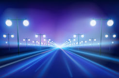 The avenue. Vector Illustration. Stock Images