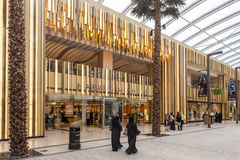 The Avenues Mall in Kuwait City. KUWAIT- DECEMBER 10: Interior of The Avenues Mall in Kuwait. December 10, 2014 in Kuwait City, Middle East Royalty Free Stock Images