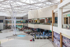 The Avenues Mall in Kuwait City. KUWAIT- DECEMBER 10: Interior of The Avenues Mall in Kuwait. December 10, 2014 in Kuwait City, Middle East Stock Images
