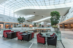 The Avenues Mall in Kuwait City. KUWAIT- DECEMBER 10: Interior of The Avenues Mall in Kuwait. December 10, 2014 in Kuwait City, Middle East Stock Photos