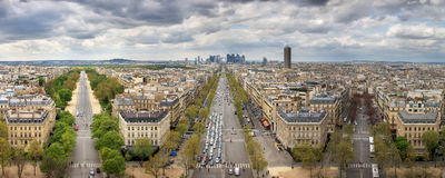 Avenues and skyscrapers. Paris. France Stock Photos