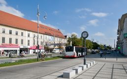 Aveny av av den jungfruliga Maryen i Czestochowa Royaltyfri Foto
