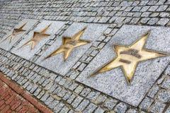 Aveny av stjärnorna av sporten i Wladyslawowo Arkivfoto