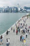 Aveny av stjärnorna i Hong Kong. Fotografering för Bildbyråer