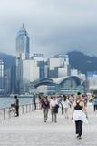 Aveny av stjärnorna i Hong Kong. Arkivfoton