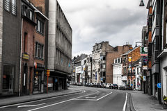 Aveny i Hasselt, Belgien Royaltyfria Bilder
