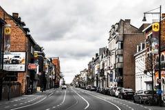Aveny i Hasselt, Belgien Royaltyfri Fotografi