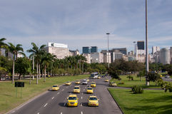 Aveny i Rio de Janeiro City Royaltyfria Bilder