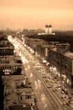 aveny leninsky moscow Royaltyfri Fotografi