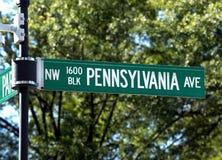 aveny 1600 pennsylvania Arkivfoto