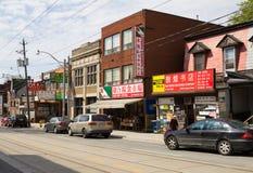 Aveny Toronto för bred sikt Royaltyfri Foto