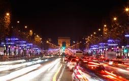 Avenydes Champs-Elysees Royaltyfri Foto