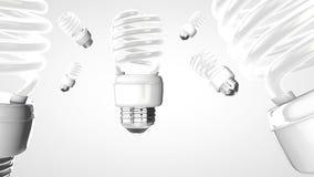 Aver bulb on modern blue  background. Stock Image