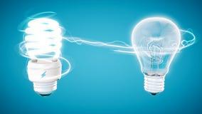 Aver bulb on modern blue  background. Royalty Free Stock Photos