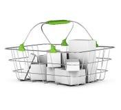 Average basket over white Stock Photography
