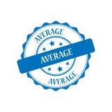 Average stamp illustration. Average blue stamp seal illustration design Royalty Free Stock Image