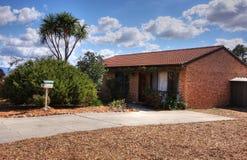 Average Brick Home. In suburbia Royalty Free Stock Image