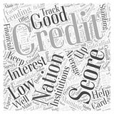 Average credit national score word cloud concept  background. Text Stock Photography