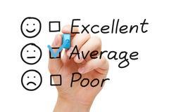 Average Customer Service Evaluation Form stock photos