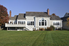 Average House. Grey colored average american home Royalty Free Stock Image