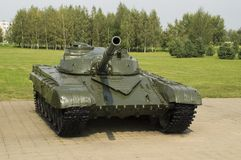 The average main tank of the USSR. Since the open-air museum stock images
