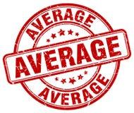 Average red grunge round vintage stamp. Average red grunge round vintage rubber stamp Royalty Free Stock Photography