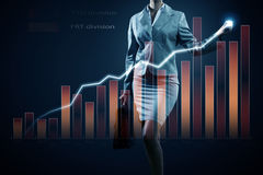 Average sales report Royalty Free Stock Images