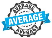 Average seal. Average round ribbon seal isolated on white background Royalty Free Stock Image