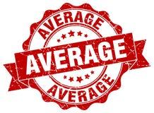 Average seal. Average round ribbon seal isolated on white background Stock Photography