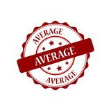 Average stamp illustration. Average red stamp seal stamp illustration Stock Image