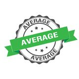 Average stamp illustration. Average stamp seal illustration design Royalty Free Stock Photography