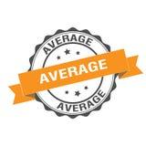 Average stamp illustration. Average stamp seal illustration design Stock Image