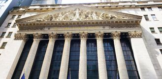 New York Stock Exchange Building stock photos