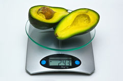 Average weight of avocado Stock Photography